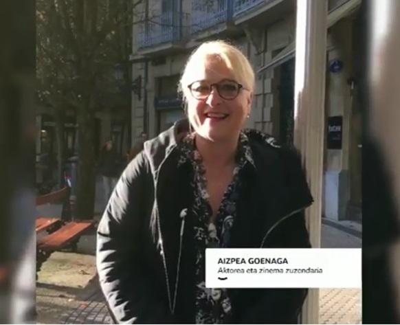 A Aizpea Goenaga le gusta comprar en el comercio local
